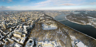 Kiev winter, aerial view Stock Image