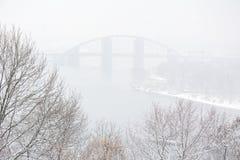 Kiev in the winter Royalty Free Stock Photos