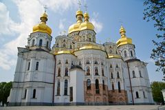 Kievo-pecherskaya lavra cathedral Royalty Free Stock Image