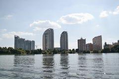 Kievskaya natura Woda Zaporoski odtwarzanie Świeże powietrze Lato gorący przespacerowanie Budować zdjęcie royalty free