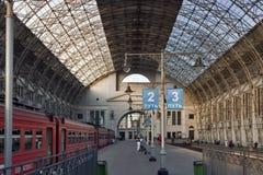 Kievskaya railway station in Moscow, Russia Royalty Free Stock Image