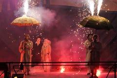 Kiew-Feuer Fest 2013 stockfotografie