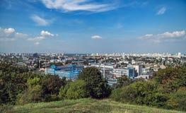 Kiew im Mittag Zentrales Teil von Kyiv-Stadt lizenzfreies stockbild