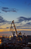 kiew Industrieller Sonnenuntergang Stockbild