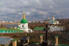 kiew Kiew-Pechersk Lavra Ansicht der Höhle Lizenzfreie Stockbilder