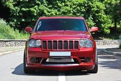 Kiew, MA - 18. September 2012 Jeep Grand Cherokee SRT8 lizenzfreie stockfotografie