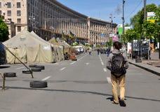 Kiew nach der Revolution im Jahre 2014 Lizenzfreies Stockfoto
