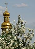 Kiew Pechersk Lavra oder Kyiv Pechersk Lavra, Frühling Lizenzfreies Stockbild