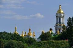 Kiew Pechersk Lavra, Ukraine Luftschuß Stockfotografie