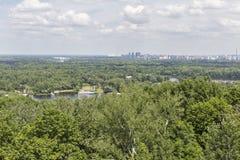 Kiew-Stadtbildvogelperspektive, Ukraine Stockfoto