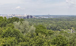 Kiew-Stadtbildvogelperspektive, Ukraine Lizenzfreies Stockfoto