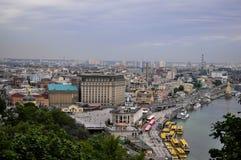 kiew straße Dnieper Lizenzfreie Stockfotos