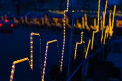 Kiew-Straße Festliche Beleuchtung Stockfotos
