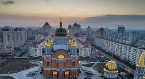 Kiew, Ukraine Aero Schießen Stockfotografie