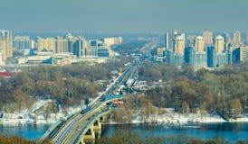 Kiew, Ukraine Aero Schießen Lizenzfreie Stockfotografie