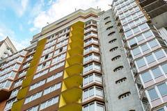 Kiew, Ukraine - 8. April 2016: Bau von neuen Apartmenthäusern Stockbild