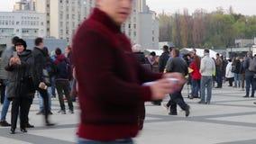Kiew, Ukraine am 19. April 2019 MA-Pr?sidentendebatte 2019 Stadion Kiews Olympiyskiy stock video