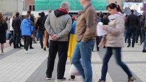 Kiew, Ukraine am 19. April 2019 MA-Pr?sidentendebatte 2019 Stadion Kiews Olympiyskiy stock video footage