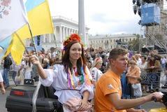 KIEW, UKRAINE - 24. August 2013 - Indipendence-Tag Lizenzfreie Stockbilder