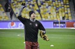 KIEW, UKRAINE - 6. DEZEMBER: Adriano Correia Claro dankt Fans während Lizenzfreies Stockbild
