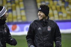 KIEW, UKRAINE - 6. DEZEMBER: Adriano Correia Claro während der UEFA Ch Lizenzfreie Stockfotografie