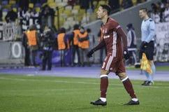KIEW, UKRAINE - 6. DEZEMBER: Adriano Correia Claro während der UEFA Ch Lizenzfreie Stockfotos
