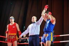KIEW, UKRAINE - DEZEMBER, 16, 2015: Ukrainische Kampf-Spiele III - nationale Kampf-Spiele Stockfotos