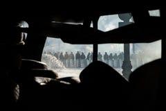 KIEW, UKRAINE - 26. Januar 2014: Regierungsfeindliche Massenproteste Lizenzfreies Stockbild