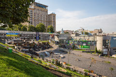 KIEW, UKRAINE 24. JULI: Maidan Nezaleznosti 24, 2014 in Kiew, U Lizenzfreie Stockfotos