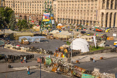 KIEW, UKRAINE 24. JULI: Maidan Nezaleznosti 24, 2014 in Kiew, U Lizenzfreie Stockbilder