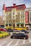 KIEW, UKRAINE-JUNE, 12: Snezhkovs rentables Haus an Pushkin-Straße, Kiew an Juni 12,2012. Stockfoto