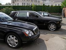 Kiew - Ukraine 12 Juni 2011 Maybach 62S stockbilder