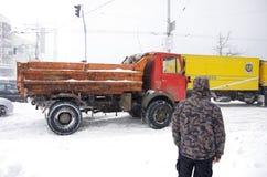 Blizzard in Kiew Lizenzfreie Stockfotografie