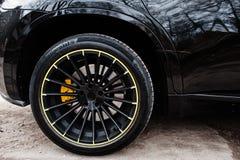 Kiew, Ukraine - 22. März 2017: Schwarzes Leistungsrad BMWs X6 M Stockbilder