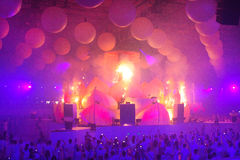 KIEW, UKRAINE - 5. MAI: Empfindung Innerspace-Show (ID&T) am NEC am 5. Mai 2012 in Kiew, Ukraine Lizenzfreies Stockfoto