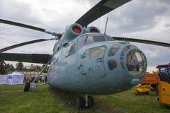 KIEW, UKRAINE - 10. MAI 2019: Hubschrauber im nationalen Luftfahrt-Museum Kiews lizenzfreies stockfoto