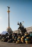 KIEW, UKRAINE - 12. Mai 2014: Ukrainische Revolution Euromaidan Lizenzfreie Stockfotografie