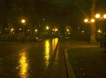 kiew ukraine Maryinskiy-Park die Lieferung verankerte im Kanal Lizenzfreies Stockbild