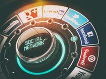 KIEW, UKRAINE - 16. NOVEMBER 2016: Konzept des Sozialen Netzes vektor abbildung