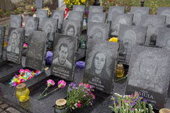 Kiew, Ukraine - 8. Oktober 2016: Denkmal zu den Opfern der Revolution im Jahre 2014 Stockfotografie