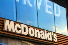 Kiew, Ukraine - 15. Oktober 2017: McDonald& x27; s-Logo McDonald& x27; s ist Lizenzfreie Stockfotos