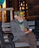 Kiew, Ukraine - September 10,2013: Bettlermann, der herein Almosen sammelt Stockbild
