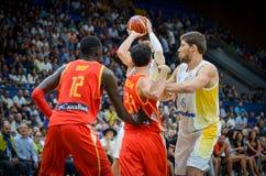 KIEW, UKRAINE - 14. September 2018: Ilimane Diop während des FIBA lizenzfreies stockfoto