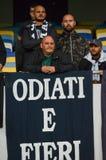 Kiew, UKRAINE - 13. September 2016: Italienische Fans FC Napoli im stan Lizenzfreies Stockbild