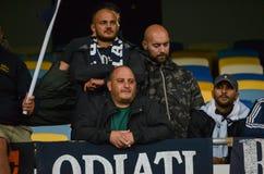 Kiew, UKRAINE - 13. September 2016: Italienische Fans FC Napoli im stan Lizenzfreie Stockbilder