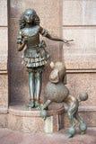KIEW, UKRAINE - 23. SEPTEMBER 2016: Skulptur nahe Marionettentheater Lizenzfreie Stockbilder