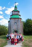 KIEW, UKRAINE - 18. SEPTEMBER 2016: Ukrainische Hochzeitszeremonie Stockbilder