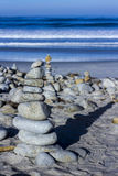 Kiezelsteen en rotsstapels, 17 Mijlaandrijving Royalty-vrije Stock Afbeeldingen