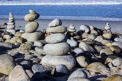 Kiezelsteen en rotsstapels, 17 Mijlaandrijving Royalty-vrije Stock Foto's