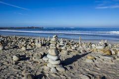 Kiezelsteen en rotsstapels, 17 Mijlaandrijving Stock Fotografie